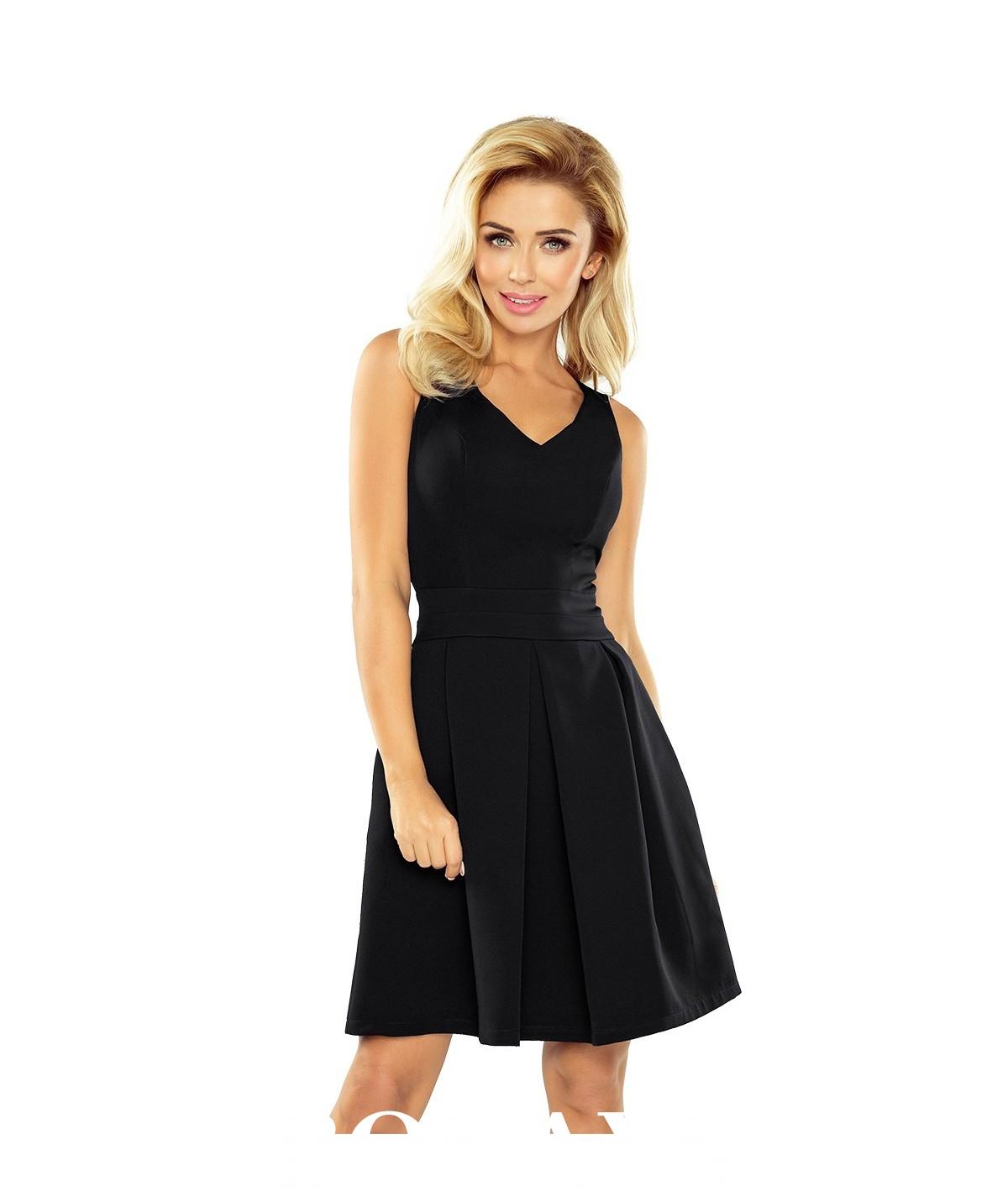 Czarna rozkloszowana sukienka Numoco